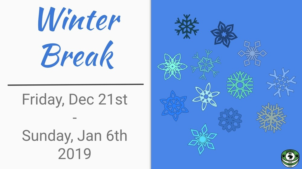 Winter Break - District Office Hours