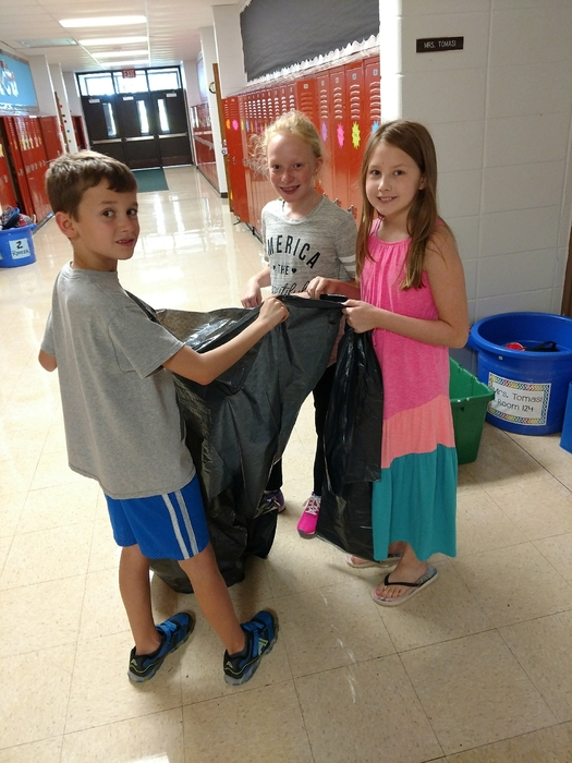 Recycling jobs in 5th grade!