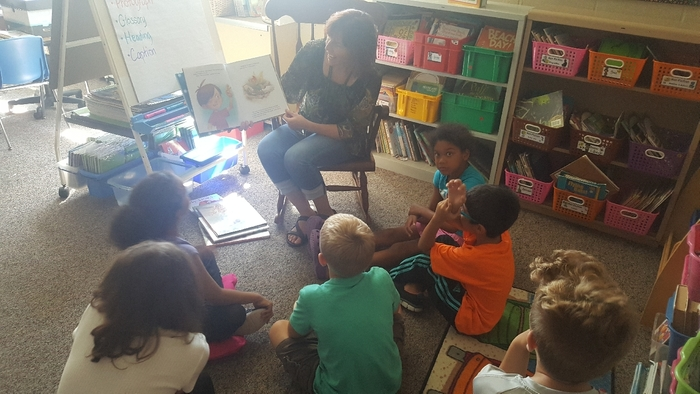 Parents reading to 2nd grade