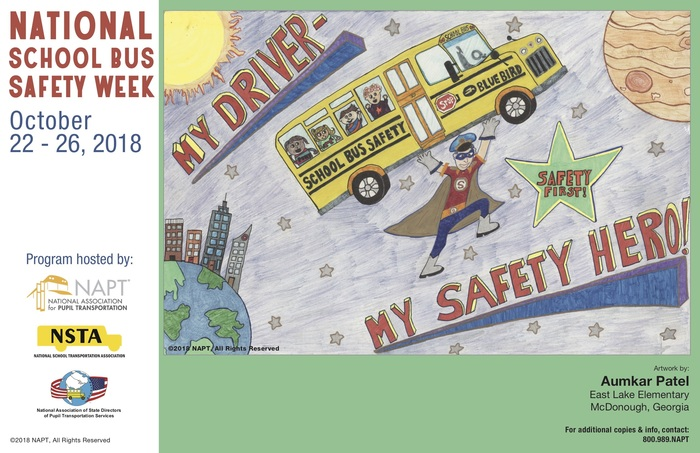 2018 National School Bus Safety Week winning poster
