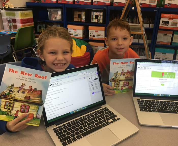 Second grade super-readers love using Google Read&Write to practice their storytelling voices!