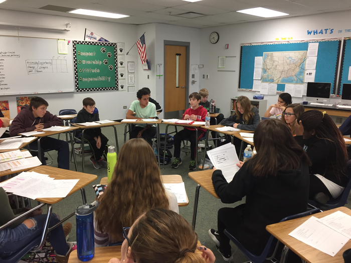 8th grade social studies socratic seminar