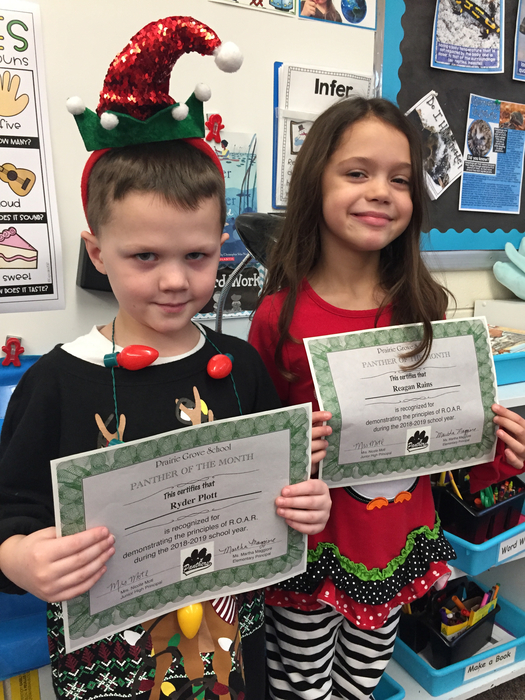 Panther of the month for first grade!