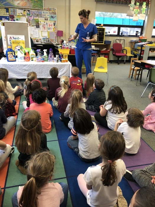 Kindergarten learning about poison prevention!