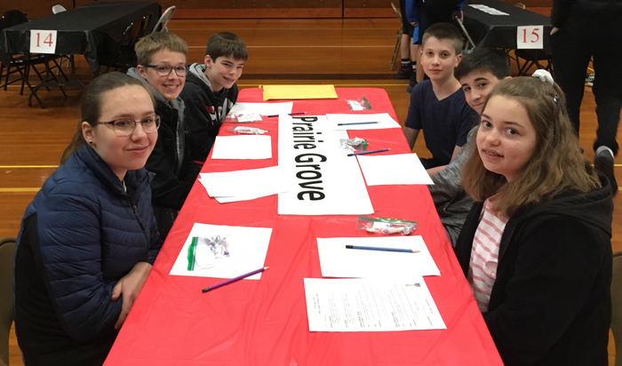 Our students are ready to compete at the Marengo scholastic bowl tournament.