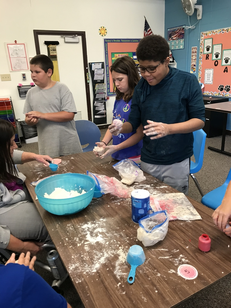 Play-dough scientists at work