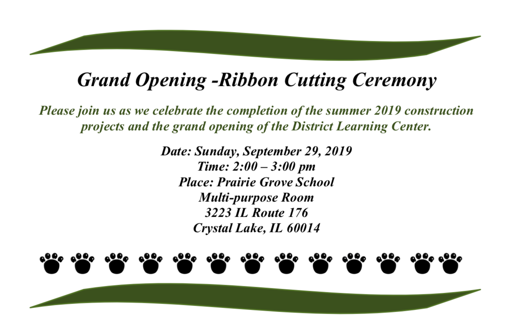 PG Ribbon Cutting Invitation