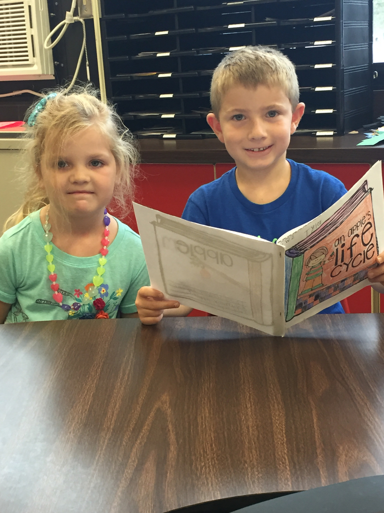 First grade reading to kindergarten!