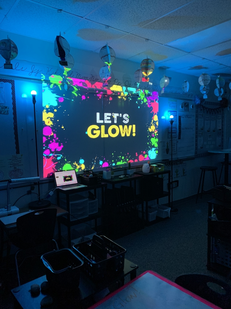 4th Grade is ready to GLOW!!