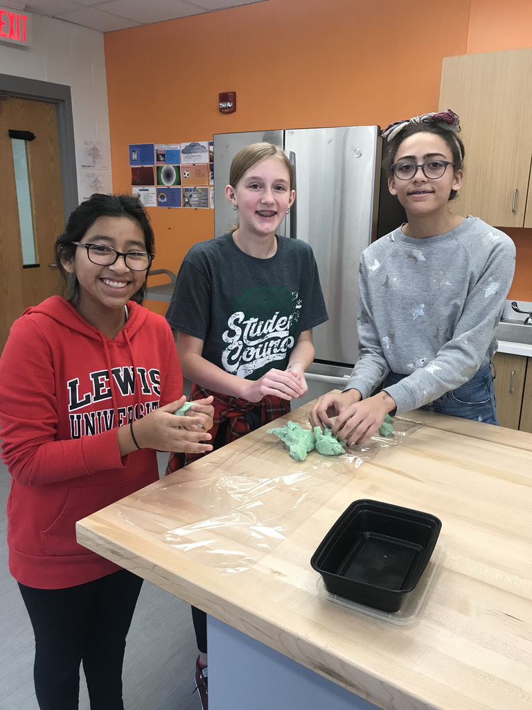 7th Grade making play-dough to donate to our ECE program!