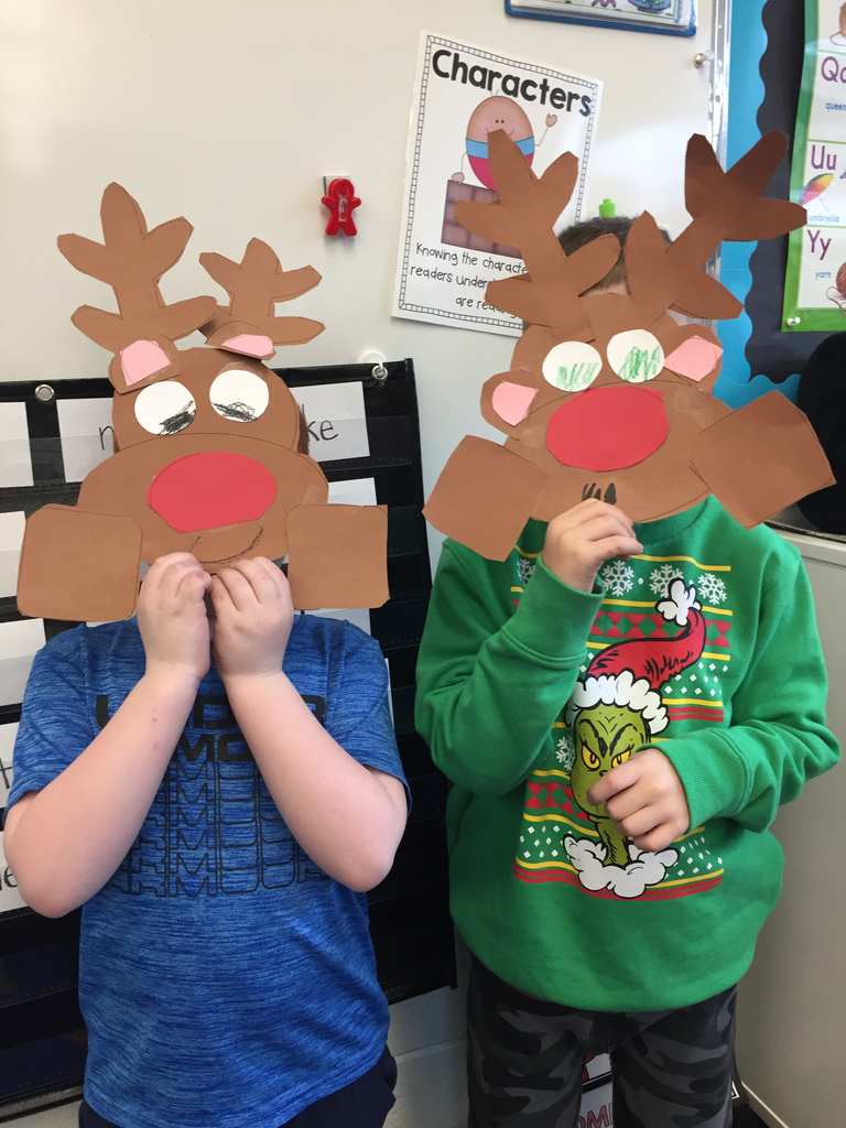 Guess who? Having fun while learning about reindeer!