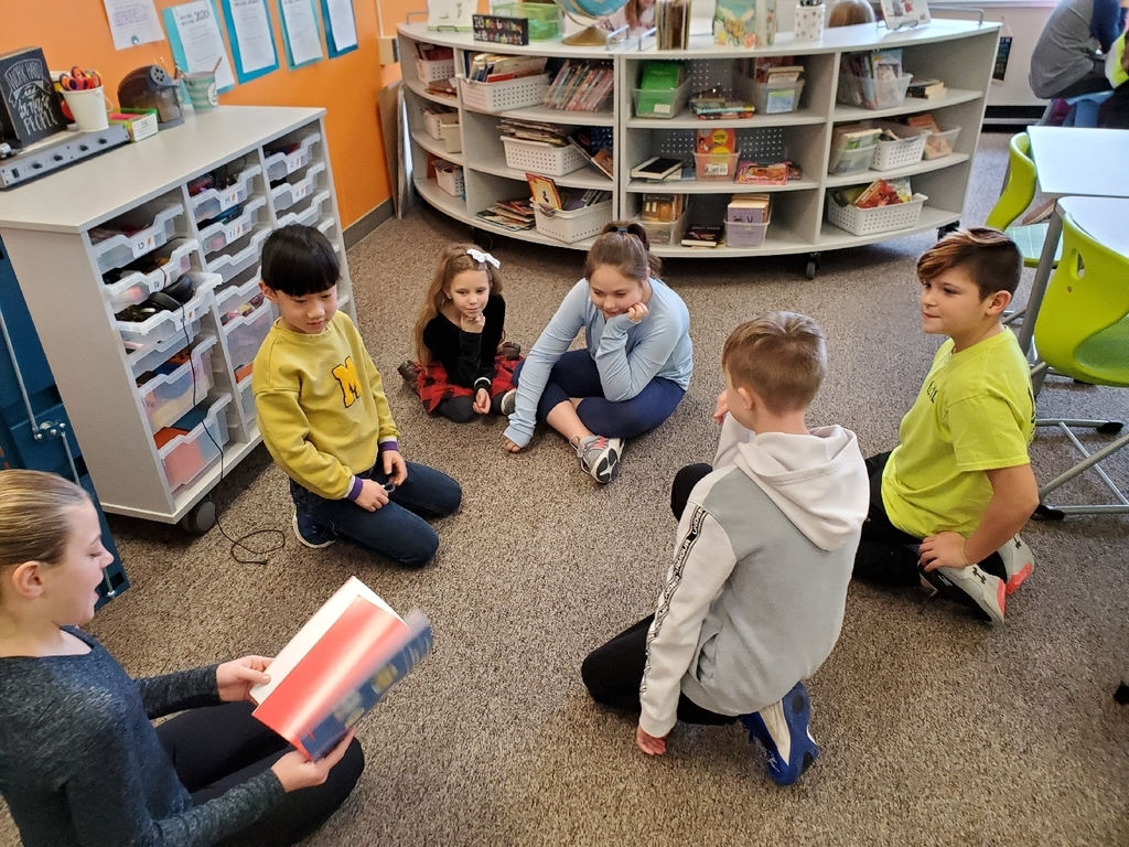 Kicking off Kindness Week with 5th graders reading to the younger grades!