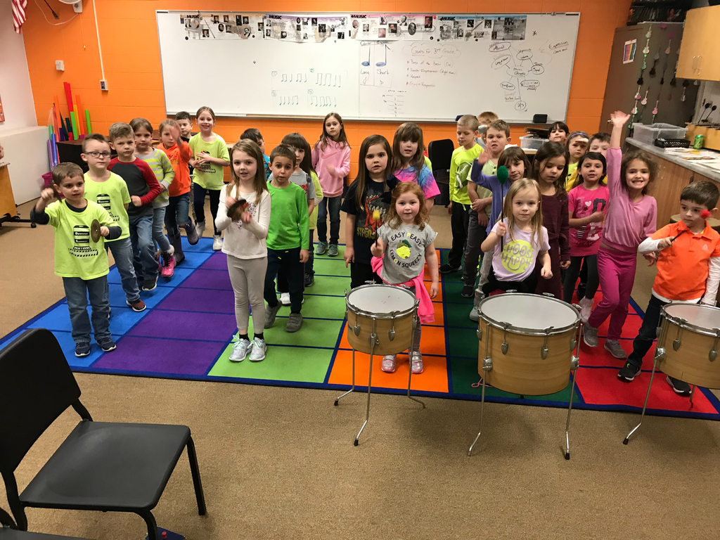 Kindergarten lesson on percussion and pride.  🥰🥁❤️🎼🇺🇸