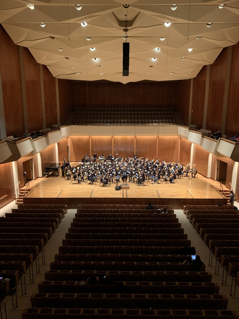 Rehearsal in the Foellinger Great Hall at the Krannert Center for the Performing Arts
