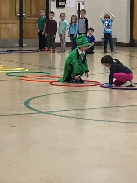 Leprechaun shenanigans during PE.