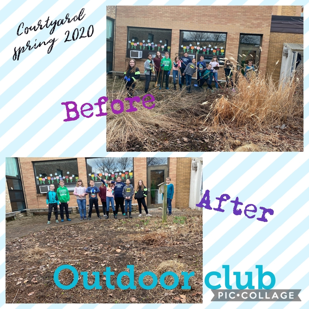 Outdoor Club students met Thursday and began the spring cleanup! Great job, team!