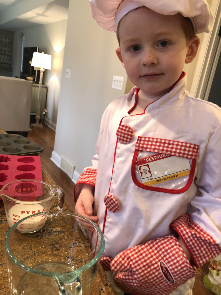 Costume Day! What is he baking today?